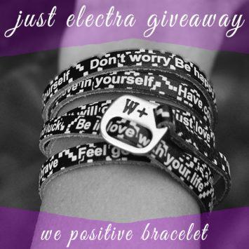 ***ΕΛΑΒΕ ΤΕΛΟΣ!***Διαγωνισμός του justelectra.gr με δώρο ένα υπέροχο βραχιόλι We Positive